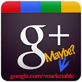 Vanity URL's for Google+