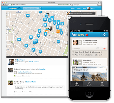 You can now make a restaurant reservation on Foursquare