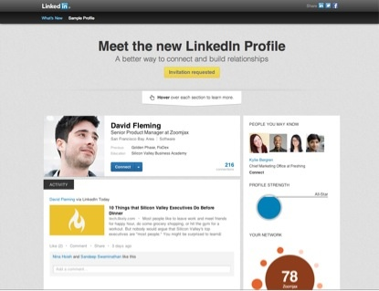 LinkedIn launches a new look for profiles
