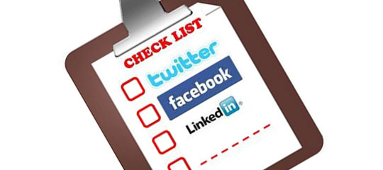 Get started on your Social Media Checklist!
