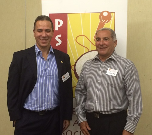 Francois Muscat with Jacques de Villiers, President of PSASA