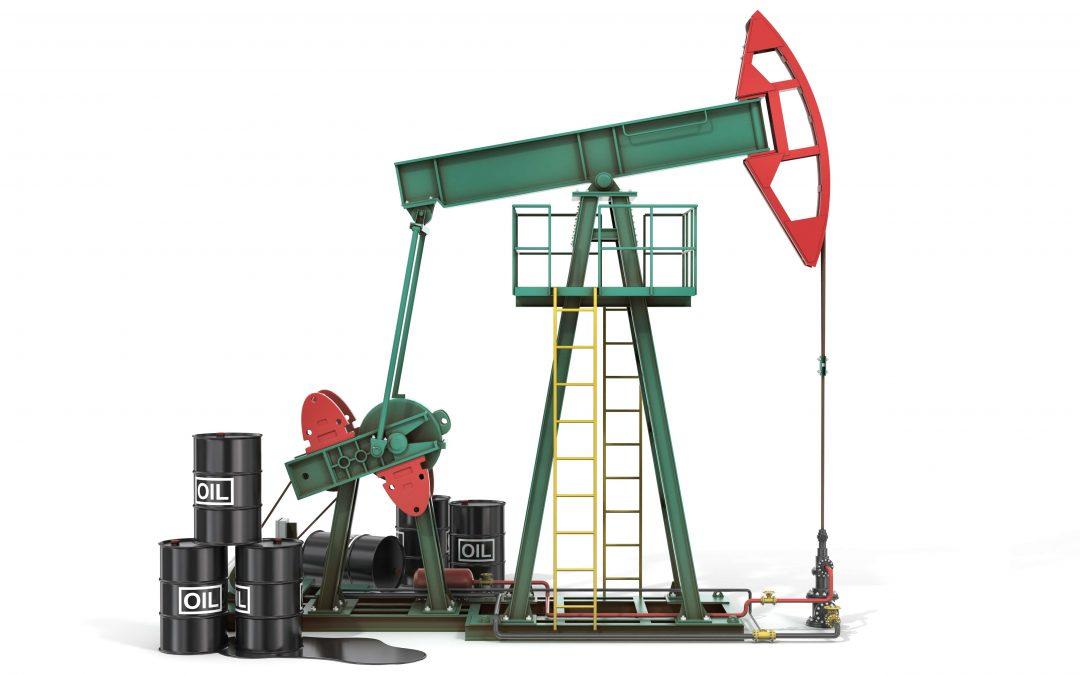 oil pump and oil barrels